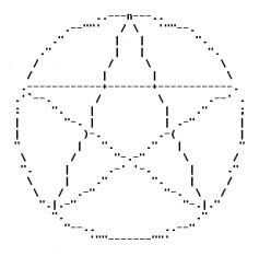 ASCII Text Art: Pentacles for Pagans