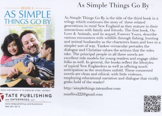 "This is a Push Card (promotional tool) for my new novel, ""As Simple Things Go By"", due out in a couple weeks."