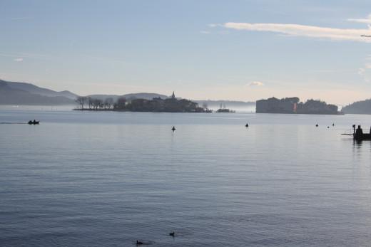 Isola Pescatori, viewing in Baveno Promenade, Lago Maggiore, Italy
