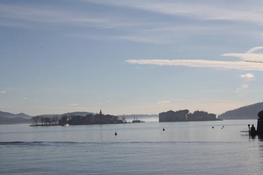 Isola Pescarori, viewing from Baveno Promenade, Lago Maggiore, Italy