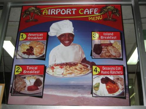 Airport Cafe, Roatan, Honduras