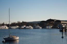 Arona Lake Promenade, Ship Harbour, Lago Maggiore, Italy