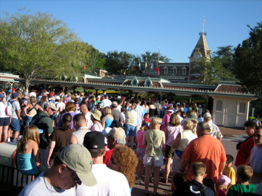 While waiting in line is normal at Disneyland, the fact that nobody cares takes away from the Magic