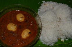 Idiyappam and Mutta (Egg) curry : Traditional kerala breakfast receipe