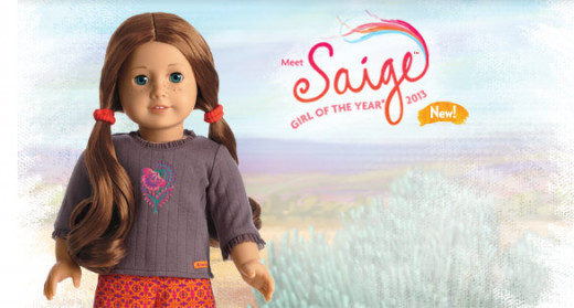 Look for limited editions like this 2013 American Girl doll of the year. She will fetch a lot in resale!