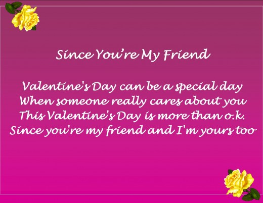 Valentines Day Messages Poems and Quotes for Friends – Valentine Card Friend