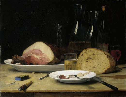 Still life by Albert Anker