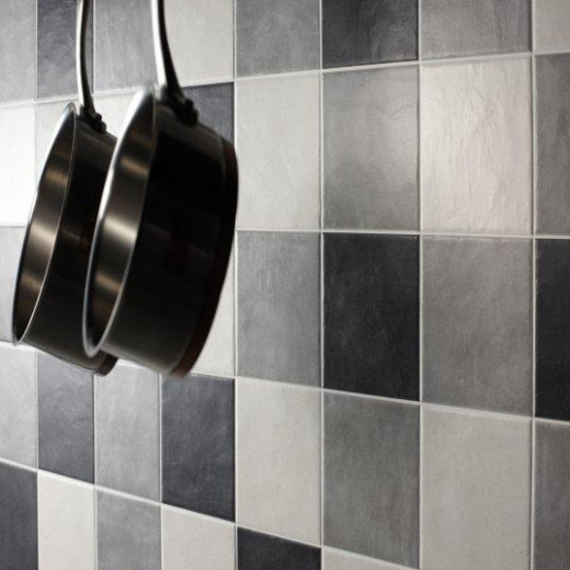 These Turin tiles work well to create a lovely splash-back in a kitchen.