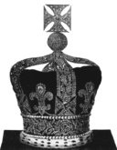 Engraving of the state crown of George IV