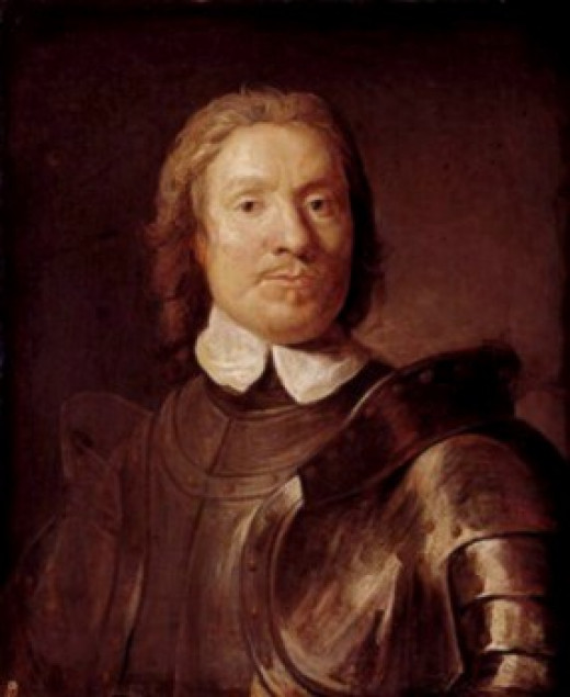 Portrait of Oliver Cromwell, Lord Protector of the Commonwealth of Britain