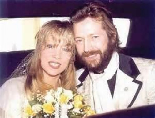 Clapton with Pattie