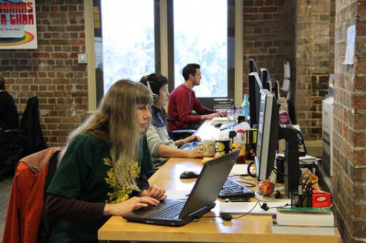 Tech Writers Hard at Work
