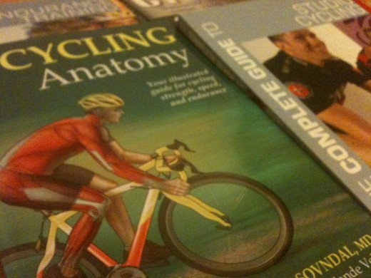 Cycling Anatomyb by Shannon Sovndal showcases the cycling muscles and helps improvement in the gym.