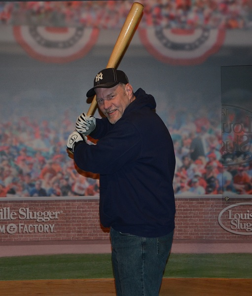 At bat with Mickey Mantle's bat.