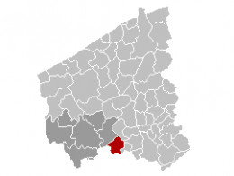 Map location of Wervik, West Flanders province