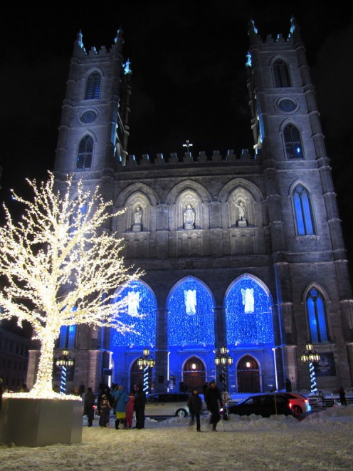 Notre Dame Basilica. New Year's Eve 2012