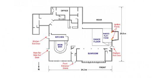 Floor plan of The Station nightclub