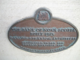 Heritage plaque, Bank of Nova Building, 1913, 440 College Street, Toronto, Ontario