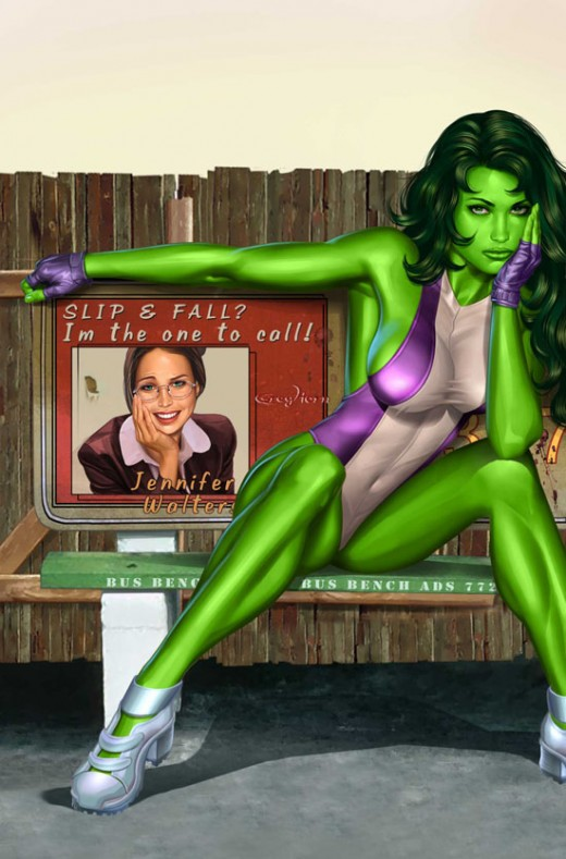 She-Hulk Purple and White Swimsuit Costume