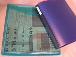 Use simple paper storage display folders and plastic envelopes to store your found ephemera.