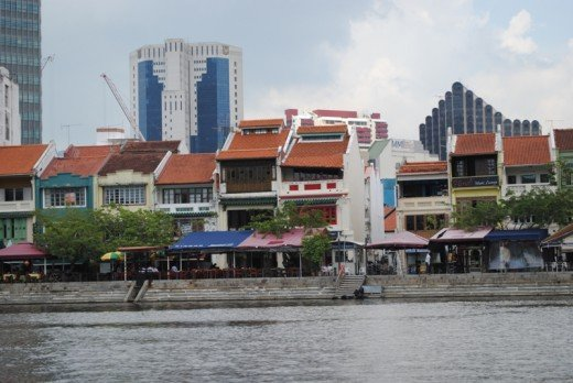 Shop houses along the river
