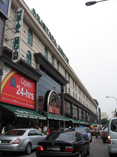 The Mustafa Centre 24-hour department store in Little India, Singapore, selling everything from toasters to televisions