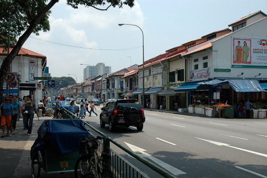 Shophouses in Little India, Singapore