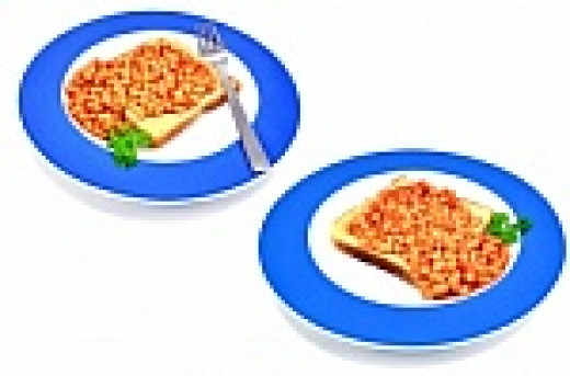 whole grain bread with beans, peanut butter or honey make a great snack.