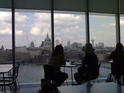 St. Paul's Cathedral from the Tate Modern restaurant