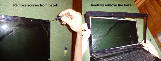 Removing Laptop Bezel