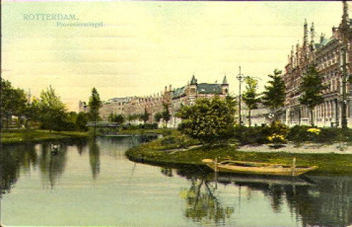 The Provenierssingel, Rotterdam, seen in 1908