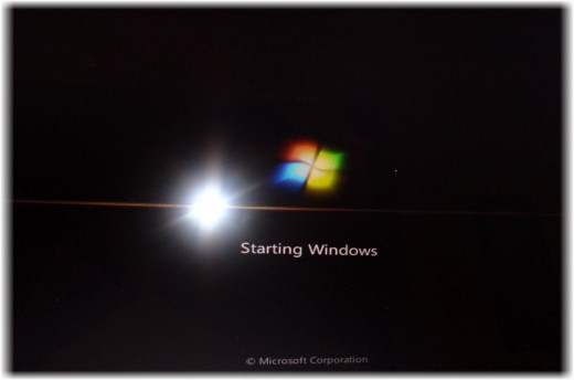 Windows Startup Screen
