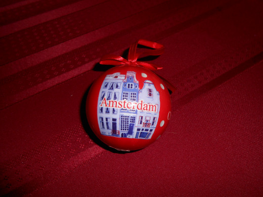 Our most recently purchased Christmas tree ornament from a trip to Amsterdam Holland last month!