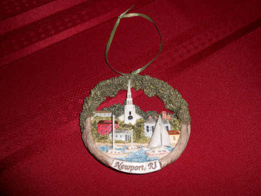 An ornament from one of our favorite cities to visit, nearby Newport, R.I.