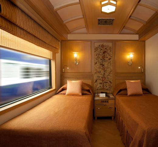 Spacious and Refined - Twin Bed Deluxe Cabin of the Maharajas' Express Train