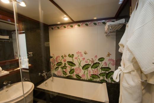 Bathroom Plan, Maharajas' Express Presidential Suite