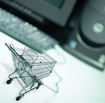 Online shopping cart (image source: GetEntrepreneurial.com)