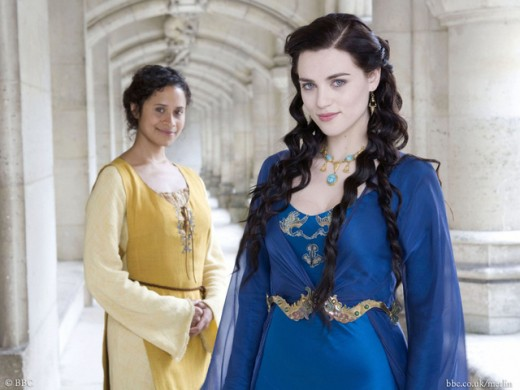 Angel Coulby as Guinevere and Katie McGrath as Morgana