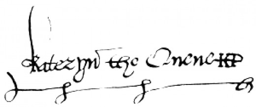 The signature of Katharine Parr