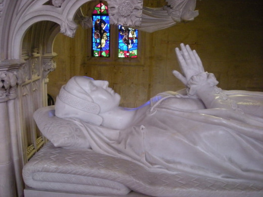 The effigy of Katharine Parr on her tomb