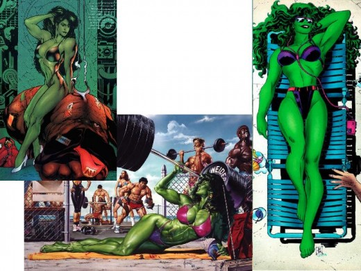 She-Hulk in Swimsuits