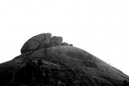 A lone climber on the hill