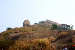 A steep boulder