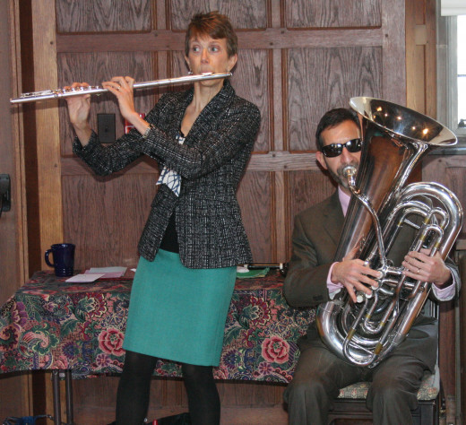 "Amy Ridings and Patrick Sciannella at Christ Church Cranbrook ""Double Play"" concert, January 9, 2013"