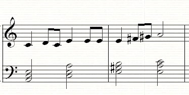 A rising melodic minor scale with a raised 6th and 7th