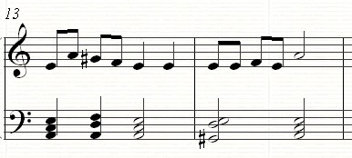A harmonic minor scale with the 7th raised