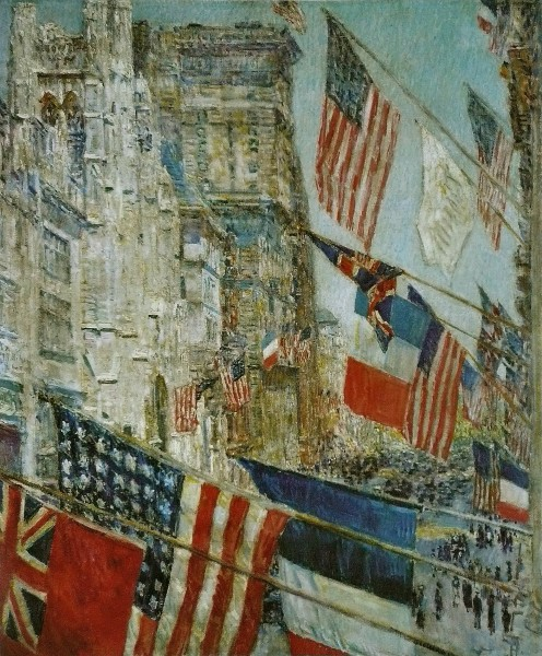Allies' Day, May 1917, by Childe Hassam (1859-1935)