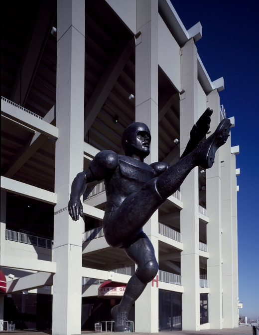 Fans at Veterans Stadium in Philadelphia even boo this statue of a punter.