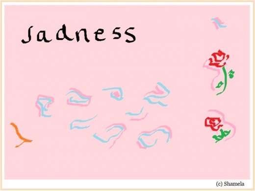 My drawing about sadness.My sadness is gone.