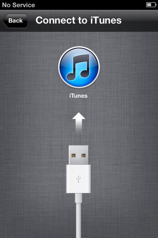 The iTunes logo usually implies an iPhone in recovery mode